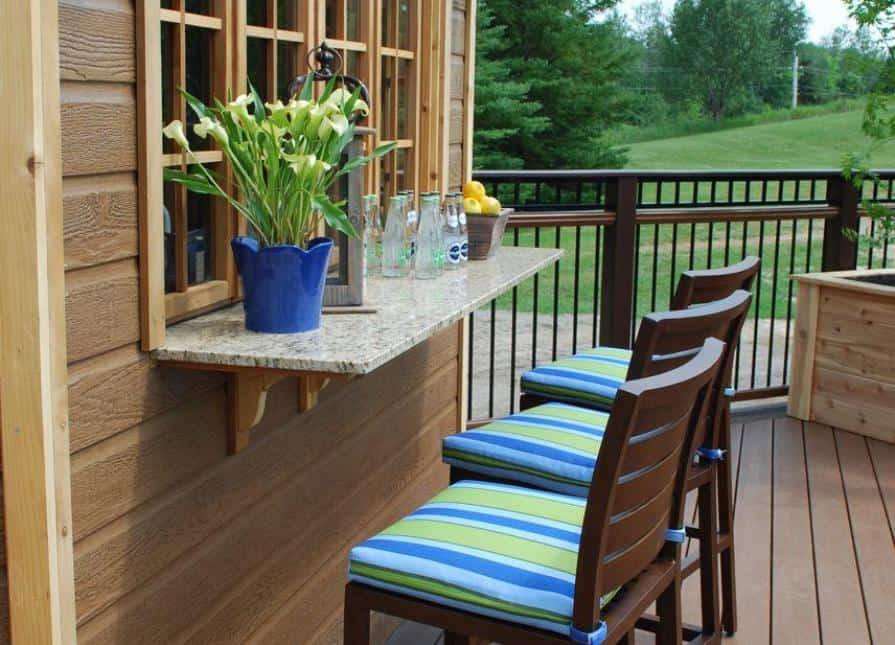 Bar Window - Catalina Pool House